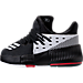 Left view of Boys' Toddler adidas Dame 3 Basketball Shoes in Black/White/Red - Away