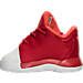 Left view of Boys' Toddler adidas Harden Vol. 1 Basketball Shoes in White/Red - Home