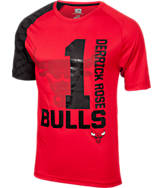 Men's Majestic Chicago Bulls NBA D Rose Skill T-Shirt