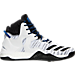 Right view of Men's adidas D Rose 7 Primeknit Basketball Shoes in Footwear White/Black