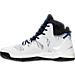 Left view of Men's adidas D Rose 7 Primeknit Basketball Shoes in Footwear White/Black