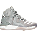 Right view of Boys' Grade School adidas D Rose 7 Basketball Shoes in Grey