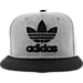 Alternate view of Men's adidas Originals Trefoil Chain Snapback Hat in Heather Grey/Black