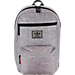 Front view of adidas Originals National Backpack in Heather Granite/Black