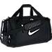 Front view of Nike Hoops Elite Max Air Large Basketball Duffel Bag in Black/White