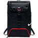 Front view of Nike LeBron Max Air Ambassador 2.0 Backpack in Black/Red