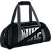 Back view of Women's Nike Gym Club Training Duffel Bag in Black/Dark Grey/White