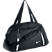 Front view of Women's Nike Auralux Solid Club Training Bag in Black/White