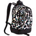 Front view of Kids' Nike Cheyenne Print Backpack in White/Black/Matte Silver