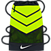 Front view of Men's Nike Vapor 2.0 Gym Sack in Black/Volt/Metallic Silver