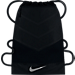 Front view of Men's Nike Vapor 2.0 Gym Sack in Black/Dark Grey/Silver