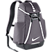 Front view of Nike Hoops Elite Max Air Team 2.0 Backpack in Charcoal/Dark Grey/White