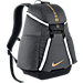 Front view of Nike Hoops Elite Max Air Team 2.0 Backpack in Anthracite/Black/Gold