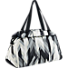 Back view of Women's Nike Aura Print Club Training Bag in Black/White