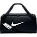 Front view of Nike Brasilia Medium Training Duffel Bag in Black/White