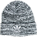 Front view of adidas Originals Trefoil Knit Hat in Black/White Marl