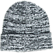 Back view of adidas Originals Trefoil Knit Hat in Black/White Marl