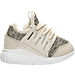 Right view of Boys' Toddler adidas Originals Tubular Radial Casual Shoes in Clear Brown/Linen Green/Vintage White