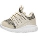 Left view of Boys' Toddler adidas Originals Tubular Radial Casual Shoes in Clear Brown/Linen Green/Vintage White