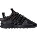 Right view of Boys' Preschool adidas EQT ADV Running Shoes in Black/Black/Black