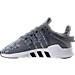 Left view of Boys' Preschool adidas EQT ADV Running Shoes in Grey/White