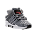 Three Quarter view of Boys' Toddler adidas EQT ADV Running Shoes in Grey/White
