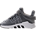 Left view of Boys' Toddler adidas EQT ADV Running Shoes in Grey/White