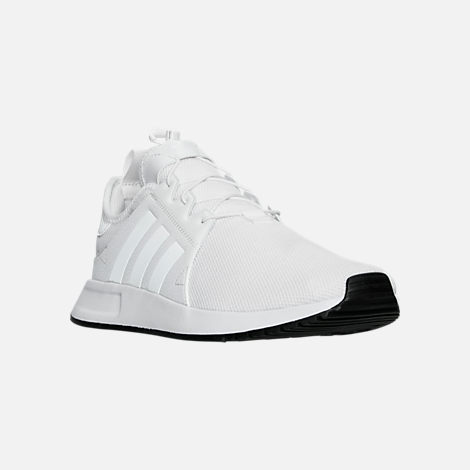 Three Quarter view of Men's adidas X_PLR Casual Shoes in White/Vintage White