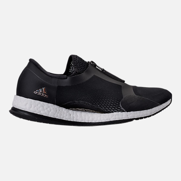Right view of Women's adidas PureBOOST X Trainer Zip Running Shoes in Core Black/Running White