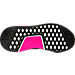 Bottom view of Women's adidas NMD R1 Primeknit Casual Shoes in Black/Shock Pink