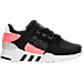 Right view of Boys' Grade School adidas EQT Support Refine Casual Shoes in Black/Black/Turbo