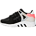 Left view of Boys' Grade School adidas EQT Support Refine Casual Shoes in Black/Black/Turbo