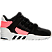 Right view of Boys' Toddler adidas Support EQT Refine Casual Shoes in Black/Turbo