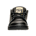 Front view of Girls' Toddler adidas Originals Stan Smith Hook-and-Loop Closure Casual Shoes in Black/Gold Metallic