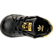 Top view of Girls' Toddler adidas Originals Stan Smith Hook-and-Loop Closure Casual Shoes in Black/Gold Metallic