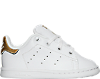 Girls' Toddler adidas Originals Stan Smith Hook-and-Loop Closure Casual Shoes