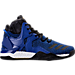 Right view of Men's adidas D Rose 7 Basketball Shoes in Blue/Core Black/Gold