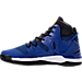 Left view of Men's adidas D Rose 7 Basketball Shoes in Blue/Core Black/Gold