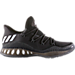 Right view of Men's adidas Crazy Explosive Low Basketball Shoes in Black/White