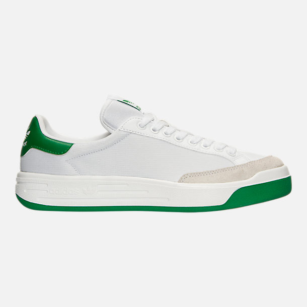 Right view of Men's adidas Originals Rod Laver Casual Shoes in White/White/Green