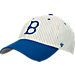 Front view of 47 Brand Brooklyn Dodgers MLB Clean Up Cap in White Pinstripe