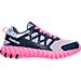 Right view of Girls' Preschool Reebok TwistForm Blaze 2.0 Running Shoes in Lavendar/Blue Ink/Poison Ink