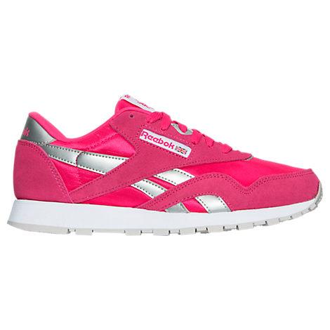 Girls' Grade School Reebok Classic Nylon Casual Shoes