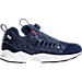 Right view of Men's Reebok x Hall of Fame Instapump Fury Casual Shoes in Collegiate Royal/College Navy/White
