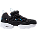 Right view of Men's Reebok Instapump Fury AR Casual Shoes in Black/White/Carribean Teal