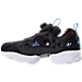 Left view of Men's Reebok Instapump Fury AR Casual Shoes in Black/White/Carribean Teal