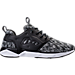 Right view of Men's Reebok Furylite II MA Casual Shoes in Black/White
