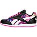 Left view of Girls' Preschool Reebok Royal Classic Leather Jogger Casual Shoes in Black/Pink/Print