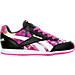 Right view of Girls' Grade School Reebok Royal Classic Leather Jogger Casual Shoes in Black/Pink/Print