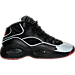 Right view of Boys' Grade School Reebok Question Mid Basketball Shoes in Black/Silver Met/Red